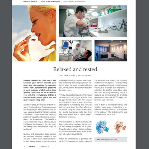 Discover Benelux artikel